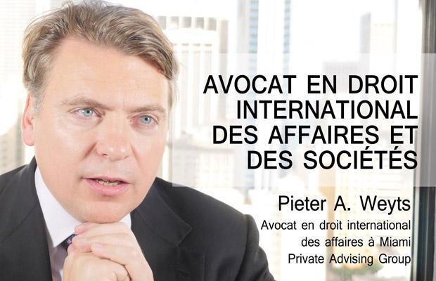Interview de Pieter A. Weyts pour Investir.us