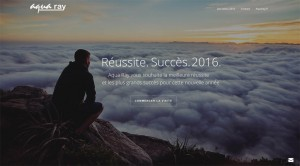 Site voeux Aqua Ray 2016