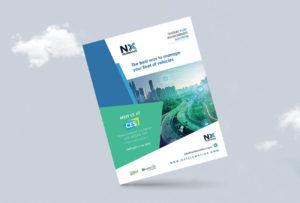 Graphic design, Flyer NX Telematics