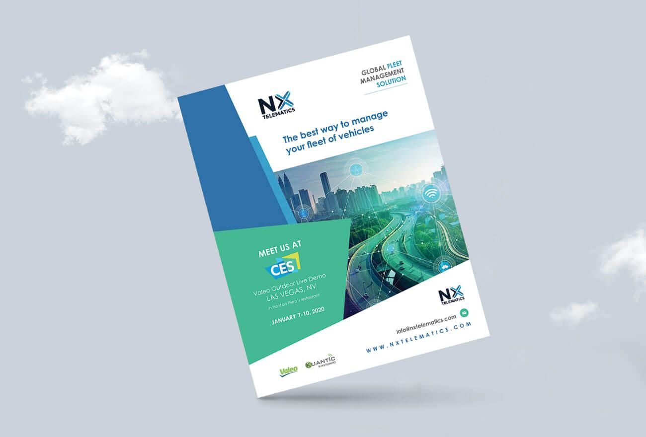Graphic design, Flyer NX Tematics