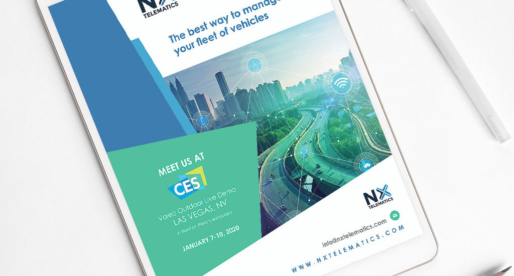 Graphic design, Flyer NX Telematics