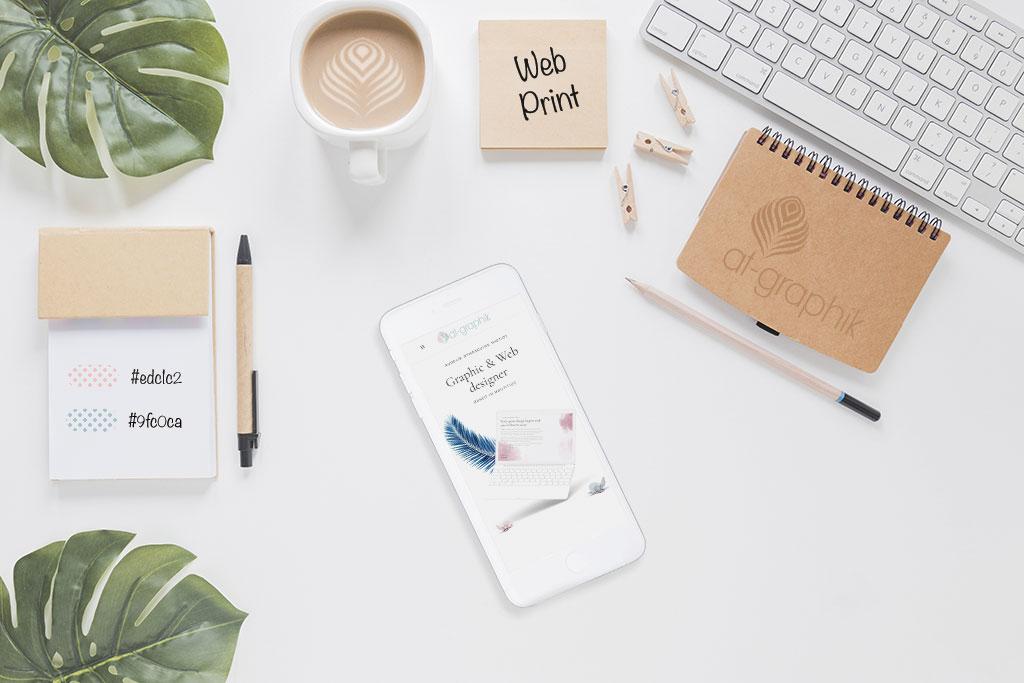 Web, Print, Branding, Digital content, Website, Layout